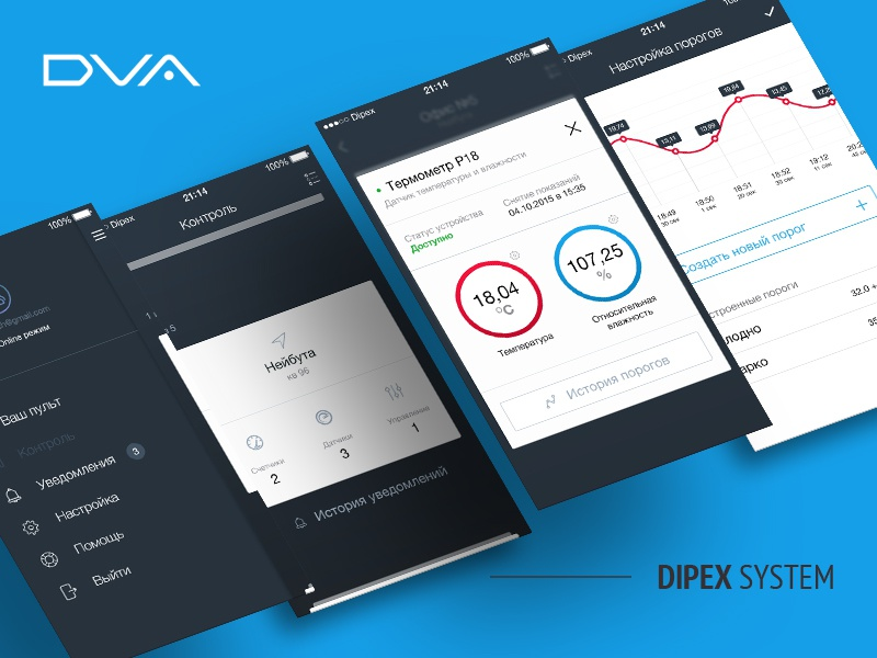 Dipex System // Smart Home ui ux sketch interface home smart sensors monitoring management iphone ios app