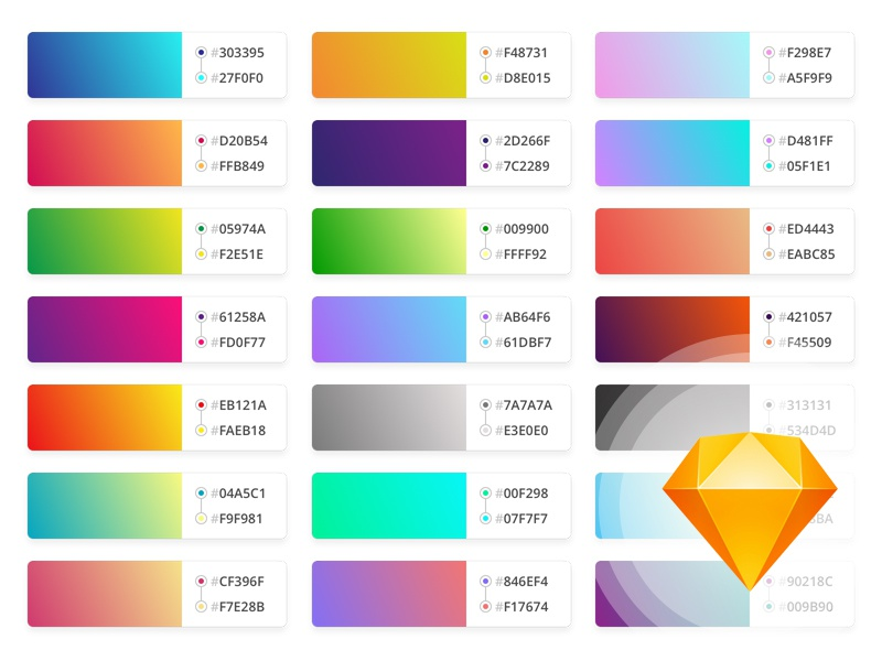 Download Gradients pack // Freebie .sketch
