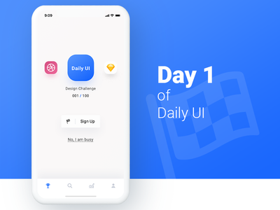 Sign Up 𐄂 Daily UI fun mobile design inspiration ios ux sketch interface challenge uichallenge app 100daychallenge ui sign up 001 dailyui