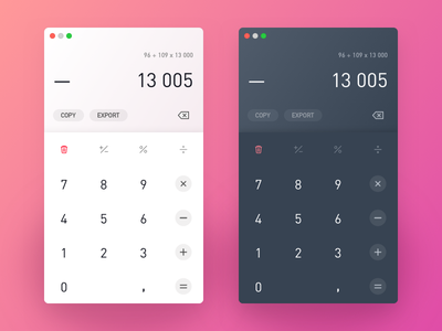 Calculator 𐄂 Daily UI fun macos desktop sketch inspiration design ux interface challenge uichallenge app modern calculator ui dailyui 100daychallenge