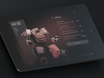 Settings 𐄂 Daily UI settings fun sketch tablet ios ux inspiration design uichallenge challenge ipad robot app setting interface dailyui 100daychallenge ui