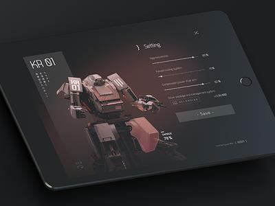 Settings 𐄂 Daily UI settings fun sketch tablet ios ux inspiration design uichallenge challenge ipad robot app setting interface dailyui 100daychallenge ui