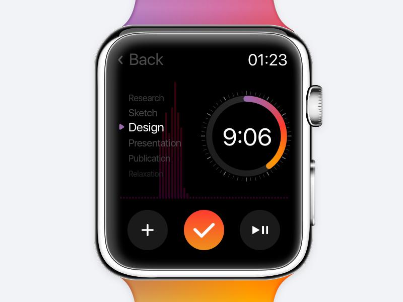 Countdown Timer // Daily UI fun ux inspiration design countdown timer watch os watch app sketch uichallenge dailyui challenge 100daychallenge interface ui