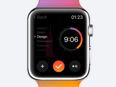 Countdown Timer 𐄂 Daily UI fun ux inspiration design countdown timer watch os watch app sketch uichallenge dailyui challenge 100daychallenge interface ui