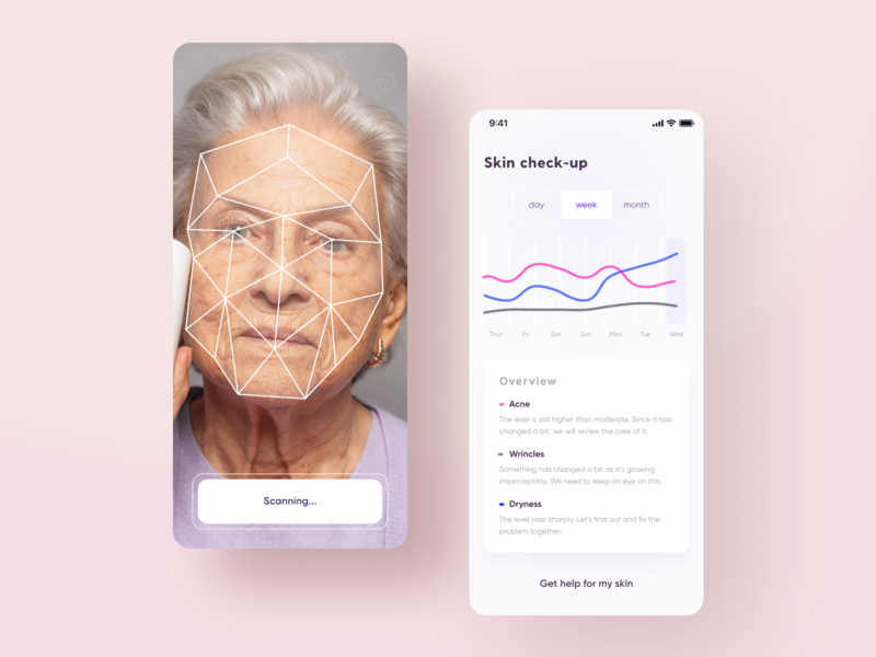 IOS App for skin&acne and health ui elements stats ui healthcare health app skincare trendy design mobile app design chart ui design mobile ui app design information architecture ios design ui color palette statistics dermatology cosmetology mobile app clean ui