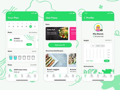 Intermittent Fasting design ui green app ui design intermittent fast fasting app fasting diet app diet uidesign ui ux app ui ux app ui app