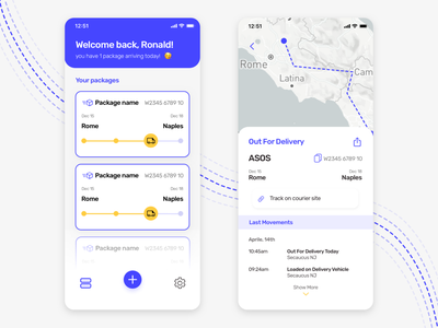 Packagetrack - Delivery App delivery status delivery app delivery app ui pack app tracking app tracking packaging packages package design uidesign uiux ui
