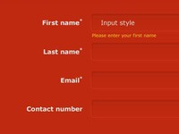Shell Form Input Styles