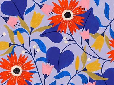 Floral Pattern flora illo illustration flowers pattern carmigrau floral