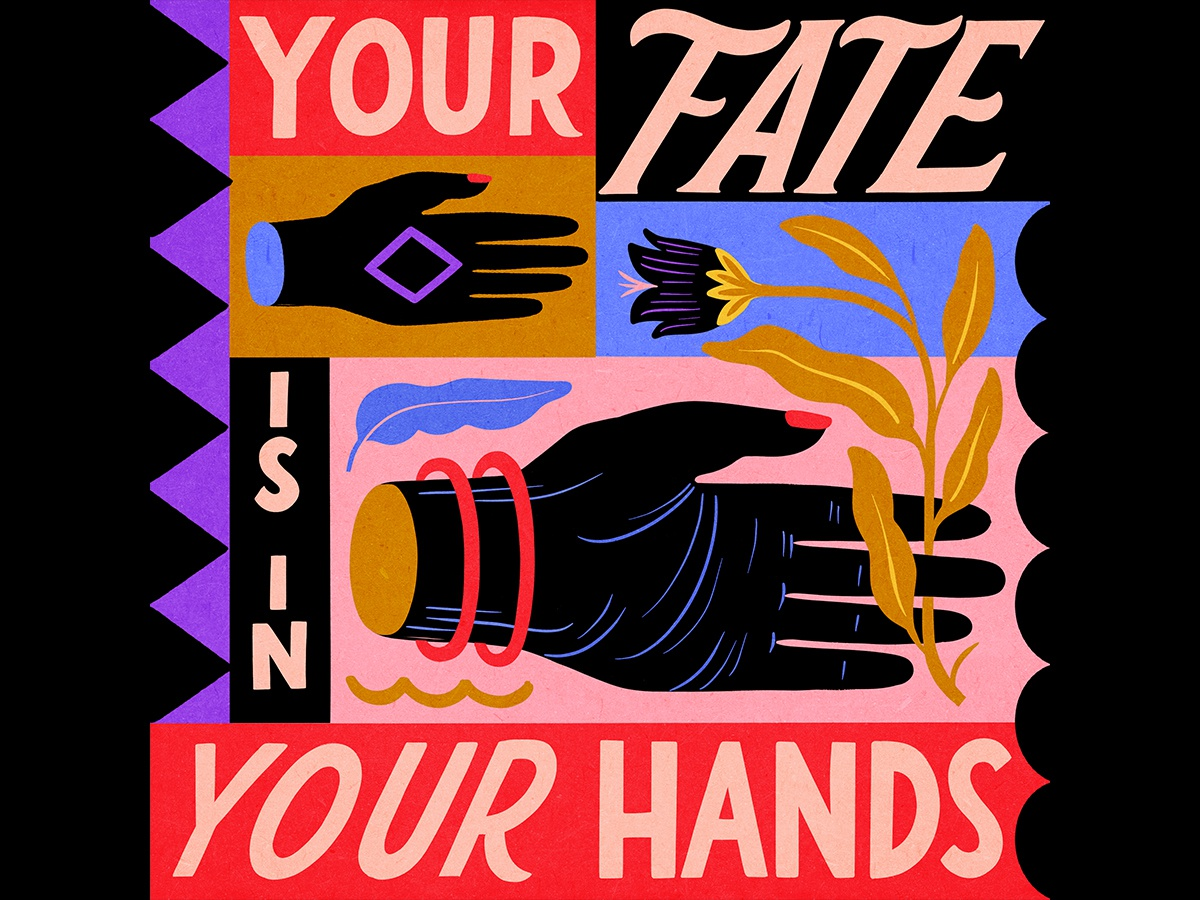 Your Fate Is In Your Hands superniceletters floral font typo typography lettering carmigrau handlettering illustration illo