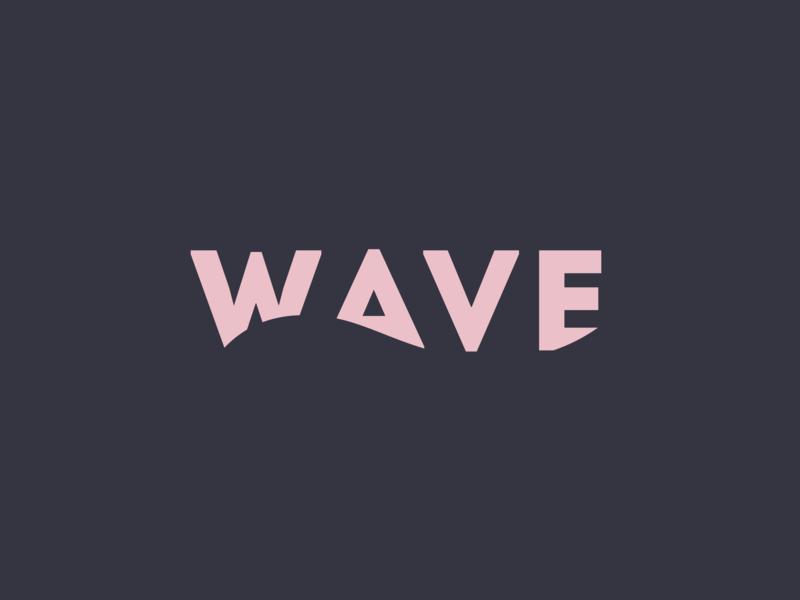 Logo design / WAVE colors palette art graphic illustration flat branding logo design