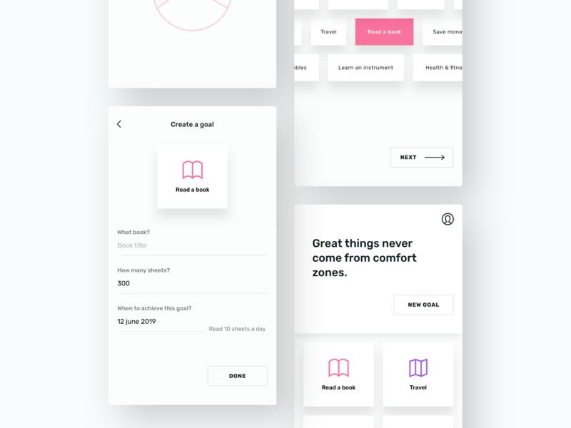 Goal Planner / App concept visual design app app design design