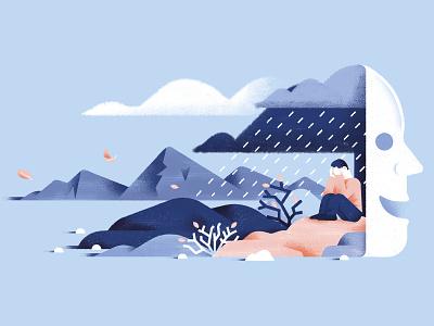 La chiave di Sophia - Grief Issue feelings feeling pain grief cover illustration editorial illustration vector texture dsgn illustration daniele simonelli