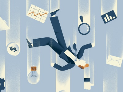 Quartz Field Guide - Lean Startup falling startups startup editorial illustration vector texture dsgn illustration daniele simonelli