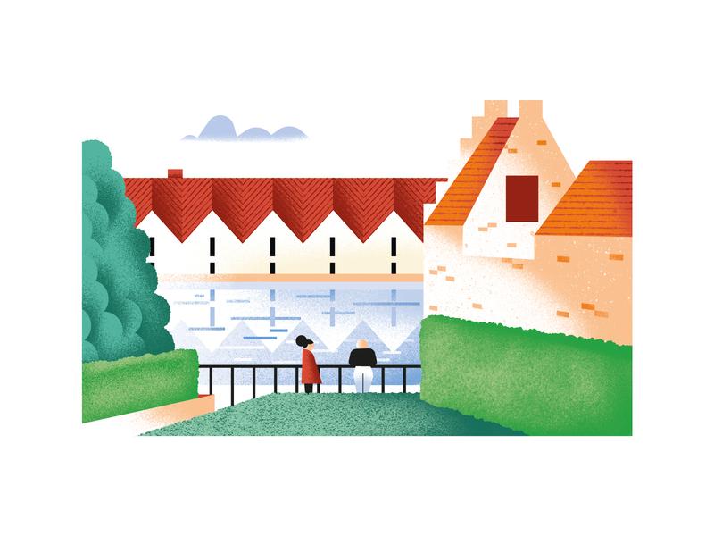 Ugenters Magazine - Appelbrugpark spot illustration editorial illustration vector texture dsgn daniele simonelli illustration