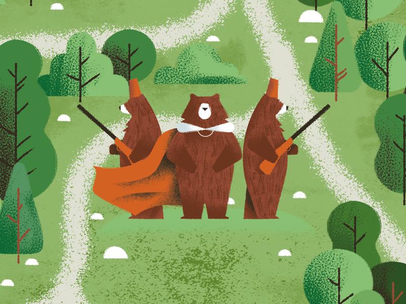 The famous invasion of bears in Sicily - Dino Buzzati book bears map vector texture dsgn daniele simonelli illustration