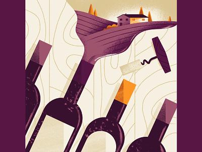 WineExpress - Sampler vineyard countryside country wine web illustration website illustration editorial illustration vector texture illustration daniele simonelli dsgn