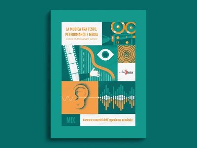 Music as text, performance and Media - book cover book grid camera arp ear eye music sound book cover dsgn daniele simonelli