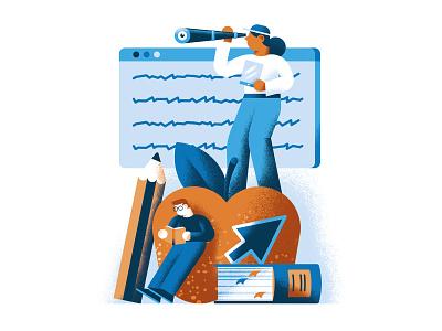 Teachers shortage students school editorial illustration vector texture dsgn illustration daniele simonelli