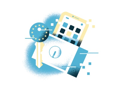Soon, nobody will be allowed to store our data - UGent Magazine lock privacy spot illustration icons editorial illustration vector texture dsgn illustration daniele simonelli