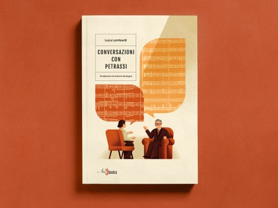 Conversations with Petrassi - NeoClassica Editrice editorial illustration vector texture dsgn daniele simonelli balloon music conversation chat illustration book illustration book cover book design book
