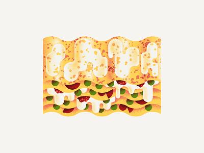 Lasagna texture dsgn illustration daniele simonelli lasagne italia pasta lasagna
