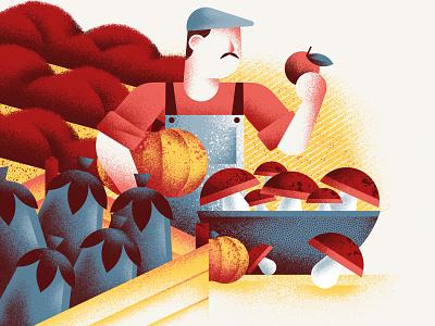 Pasta Casalinga - From the Land restaurant website illustration vegetables market texture dsgn illustration daniele simonelli