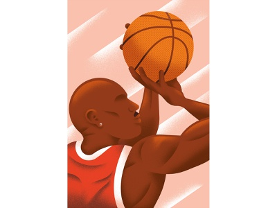 Match Point - Michael Jordan portrait 23 basketball jordan michael jordan vector texture dsgn illustration daniele simonelli