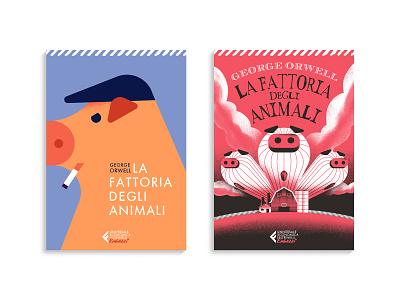 Animal Farm - Book Cover cover illustration book illustration book cover book animal farm pig vector dsgn texture illustration daniele simonelli