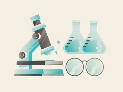 Lab test tube science chemistry beaker glasses lab microscope vector infographic illustration dsgn daniele simonelli