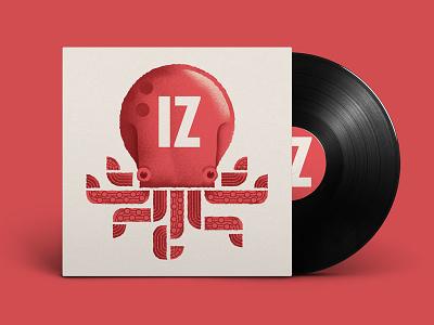 IZ LP cd cd cover artwork lp jazz music illustration octopus dsgn