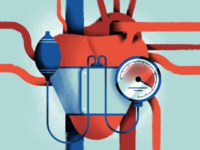 Hipertension Editorial illustration repubblica pressure heart editorial illustration daniele simonelli dsgn