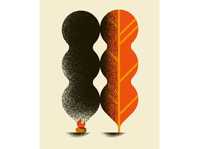 Contamination concept illustration texture daniele simonelli poster smoke shapes geometric tree wood fire illustration dsgn