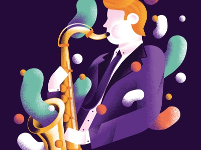 Saxophonist - Soul Band daniele simonelli band saxophonist saxophone sax music poster poster music soul jazz illustration dsgn