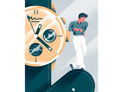 Il Sole 24 Ore - Luxury Watches daniele simonelli illustration dsgn texture vector editorial illustration watch luxury wrist clock