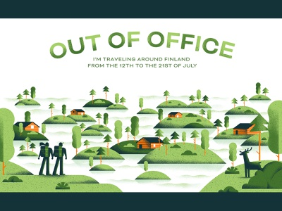 Out Of Office 2019 - Finland travel finland arcipelago island backpack nature illustration email out of office daniele simonelli dsgn