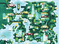 The Good Life Magazine 22 - Map illustration