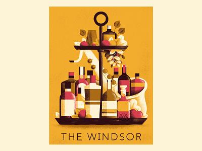 The Windsor Jazz Poster vector texture daniele simonelli jazz poster bottles gin jazz poster illustration poster illustration dsgn