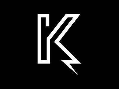 Kreate logomark lightning k logomark
