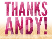 Thanks Andy!