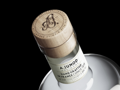 A.Junod Monogram monogram packaging lettering belle epoque cap label absinthe