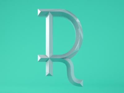 Art Deco R plastic art deco sans typography type lettering letterforms custom type