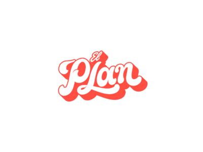 El plan logotype typography type googie funny handmade retro groovie lettering