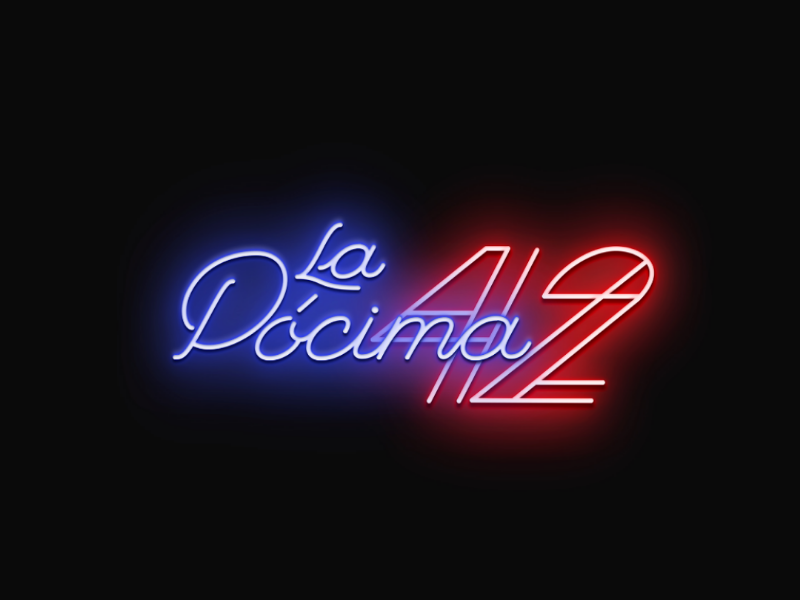 La Pócima 42 retro miami bar palmer monoline logotype lettering graphic design design branding brand logo