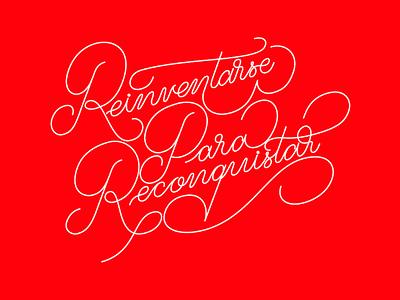 RPR Lettering romantic love red script typography type monoline palmer lettering