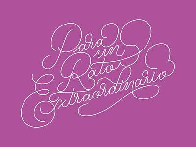 PRE Lettering purple romantic love script typography type monoline palmer lettering