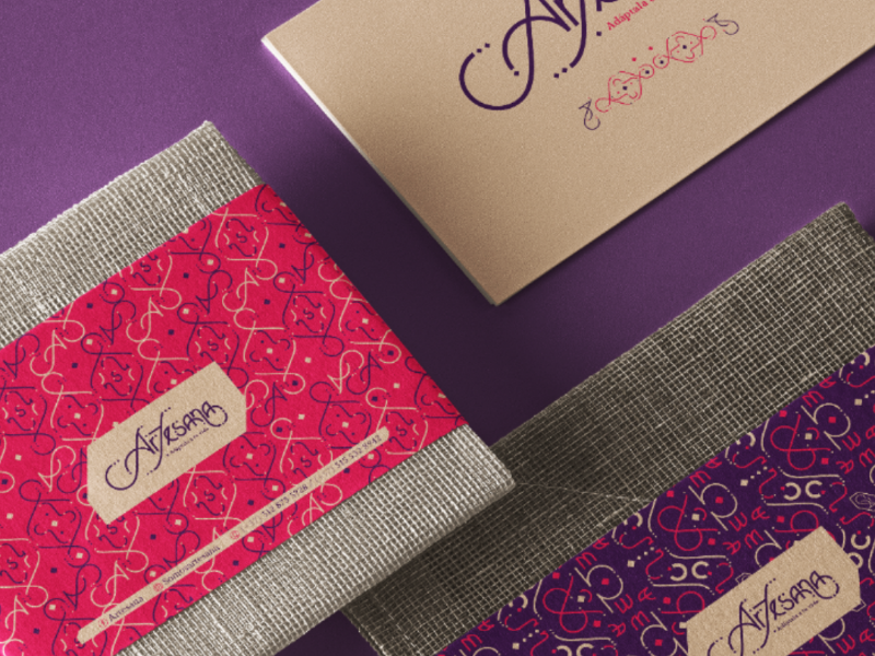 Artesana stationery pattern arabic typography lettering jewlry branding logotype