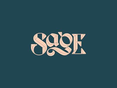 Sage Logotype australia rap hip hop wordmark custom type type lettering uncial