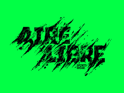 Aire Libre Hikinh sports wear typography type ground hiking illustration lettering