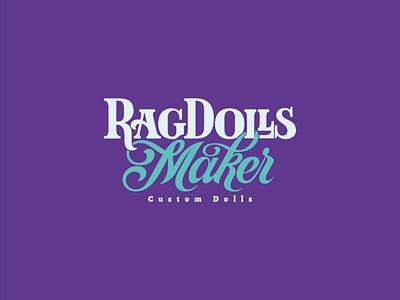 Rag Dolls Maker Logotype vector graphic design branding wordmark logotype typography type lettering